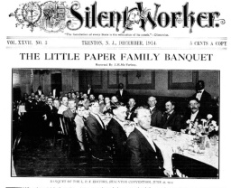 Little Paper Family Banquet from Silent Worker 1914
